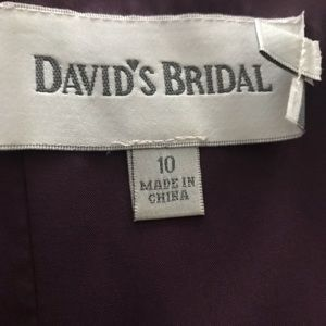 Davids Bridal strapless dress